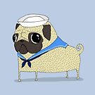 Sailor Pug by agrapedesign