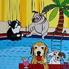 playing in the pool with friends by Mirjam Griffioen