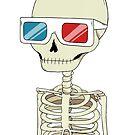 Skeleton 3D-Brille von agrapedesign
