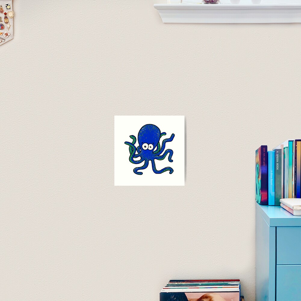 Squiggles the Octopus Art Print