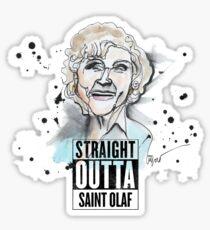 Straight Outta Saint Olaf  Sticker