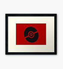 Pokemon Pokeball Fire  Framed Print