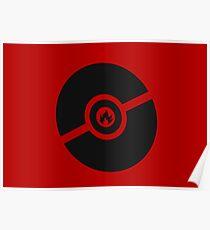 Pokemon Pokeball Fire  Poster