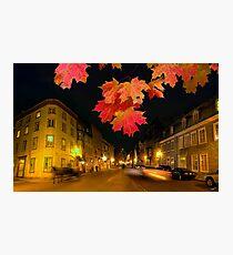 Quebec streets Photographic Print