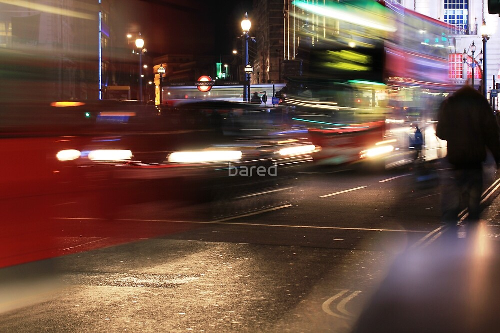 Evening Rush at Piccadilly Circus, London by bared