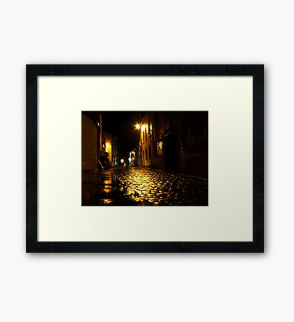 A night in Staithes Framed Print