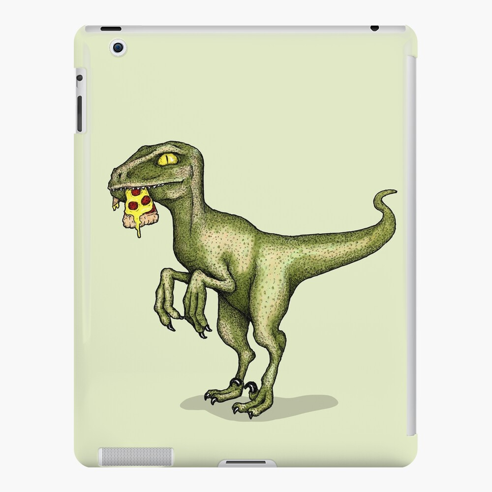 Raptor eating pizza iPad Case & Skin