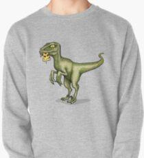 Raptor eating pizza Pullover Sweatshirt