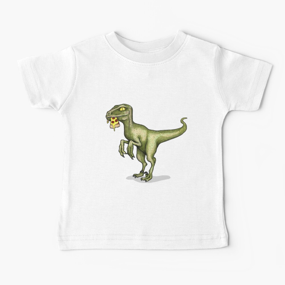 Raptor eating pizza Baby T-Shirt
