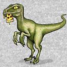 Raubvogel, der Pizza isst von agrapedesign