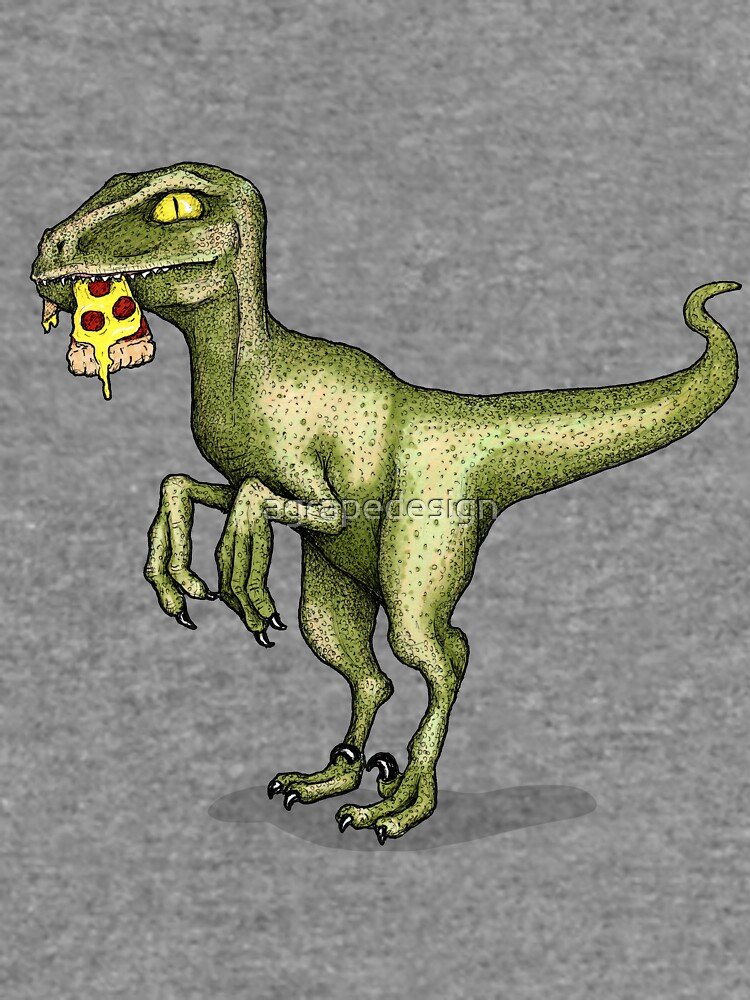 Raptor eating pizza by agrapedesign