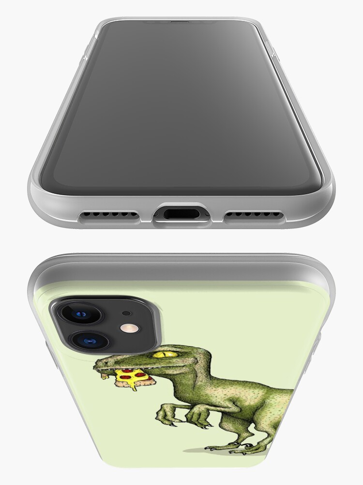 Alternate view of Raptor eating pizza iPhone Case & Cover