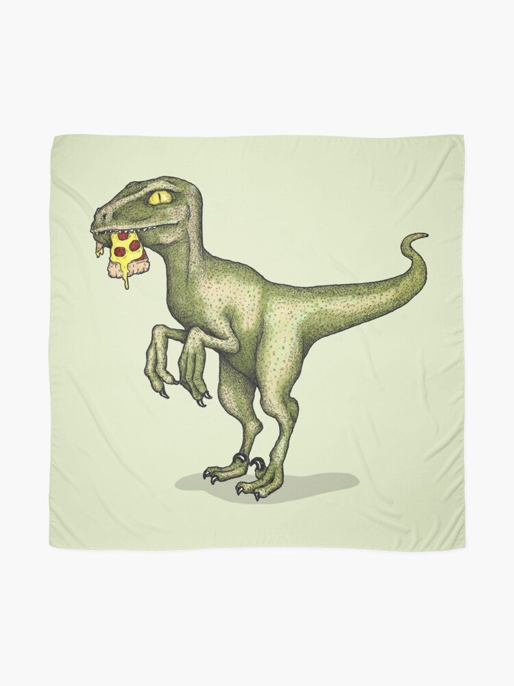Alternate view of Raptor eating pizza Scarf