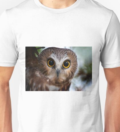 Northern Saw Whet Owl Portrait T-Shirt