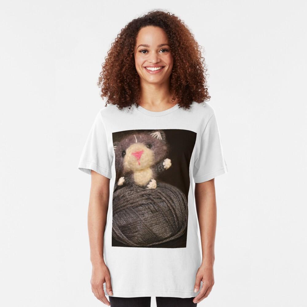 Fuzzy Cat Slim Fit T-Shirt
