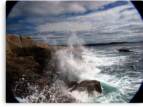 Peggy's Cove Splash by Al Bourassa