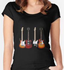Four Electric Guitars Women's Fitted Scoop T-Shirt