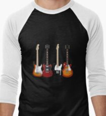 Four Electric Guitars Men's Baseball ¾ T-Shirt
