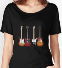 Four Electric Guitars Women's Relaxed Fit T-Shirt