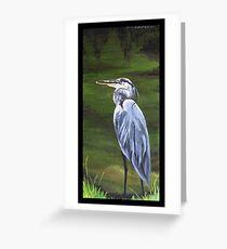 """""""Heron. (At Jungle Gardens- Sarasota, Florida) Greeting Card"""