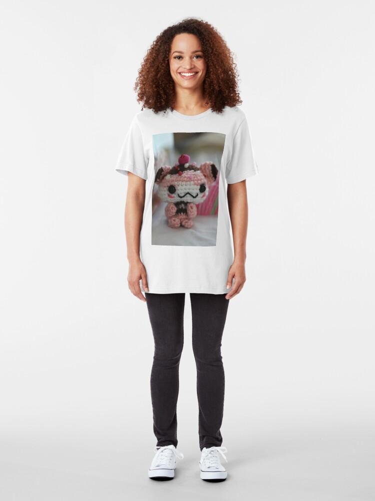 Alternate view of Hamster Cupcake Slim Fit T-Shirt