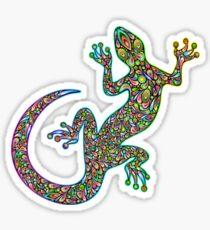 Gecko Lizard Psychedelic Fantasy Art Vector Illustration  Glossy Sticker