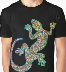 Gecko Lizard Psychedelic Fantasy Art Vector Illustration  Graphic T-Shirt