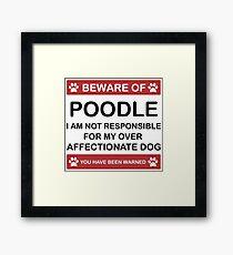 Poodle, Gift, Art, Dog Breed Framed Print
