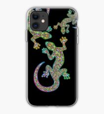Gecko Lizard Psychedelic Fantasy Art Vector Illustration  iPhone Case