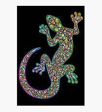 Gecko Lizard Psychedelic Fantasy Art Vector Illustration  Photographic Print