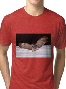 Great Gray Owl Tri-blend T-Shirt