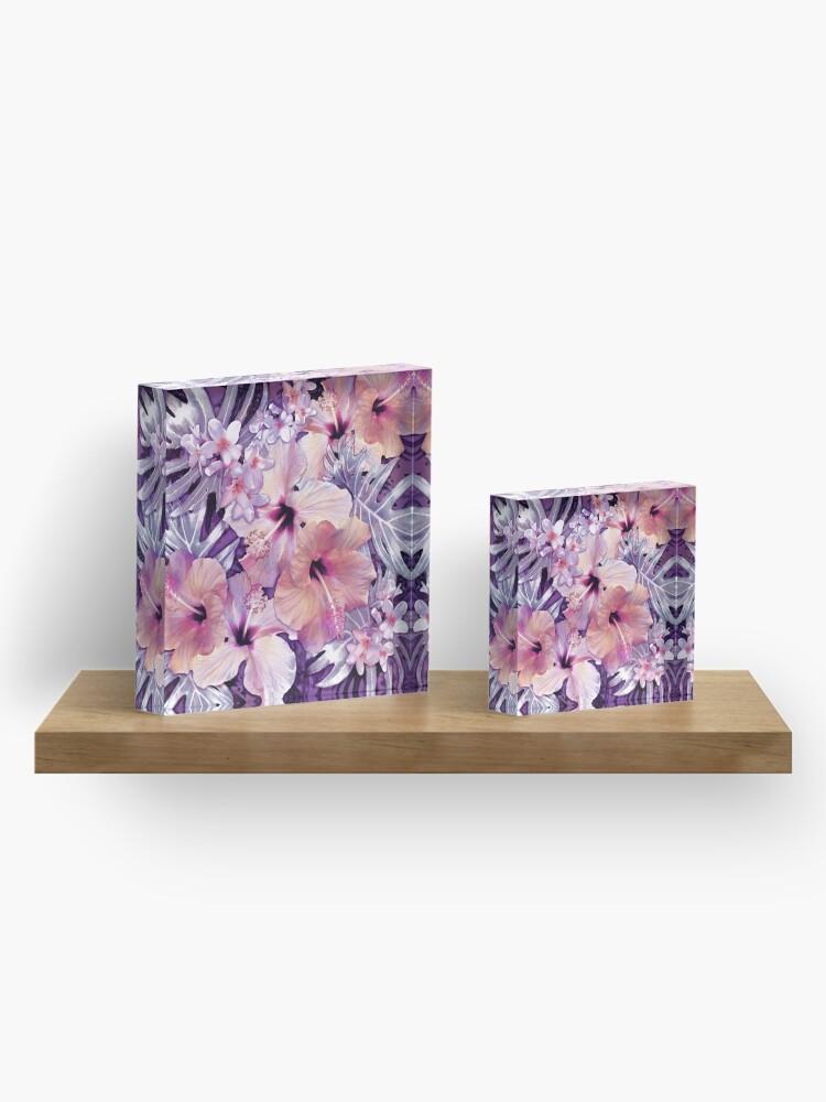 Alternate view of Violet Vintage Tropical Acrylic Block
