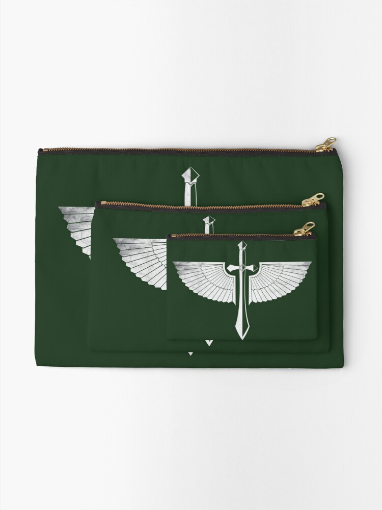 Alternate view of The winged Sword Zipper Pouch
