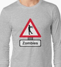 Caution: Zombies Long Sleeve T-Shirt
