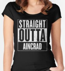 Straight Outta Aincrad Women's Fitted Scoop T-Shirt