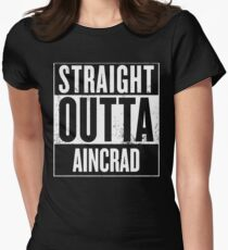 Straight Outta Aincrad Women's Fitted T-Shirt