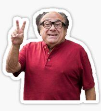 danny devito peace sign Sticker