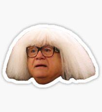 danny devito artist wig Sticker