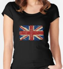 United Kingdom - Union Jack Flag Women's Fitted Scoop T-Shirt