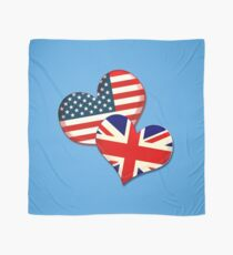 USA and UK hearts Scarf