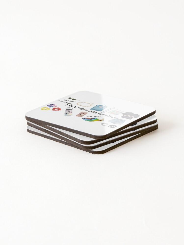 Alternate view of vsco girl starter pack, vsco girl packs Coasters (Set of 4)