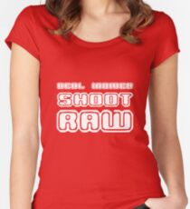 Real women shoot raw geek funny nerd Women's Fitted Scoop T-Shirt