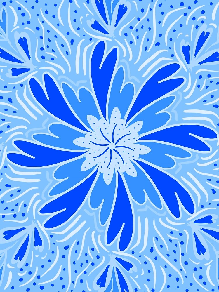 Blue Flower by roseglasses