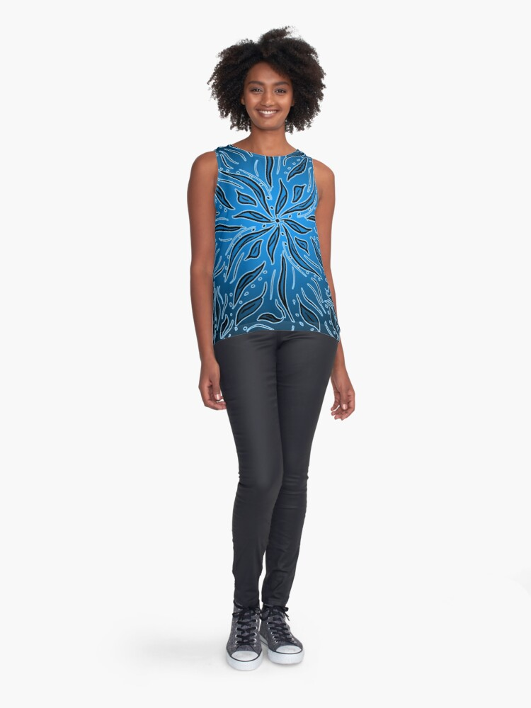 Alternate view of Ethereal Blue Sleeveless Top