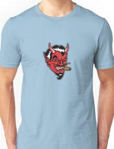 Retro devil head geek funny nerd Unisex T-Shirt