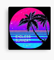 Endless Summer (Vaporwave) Canvas Print