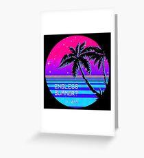 Endless Summer (Vaporwave) Greeting Card
