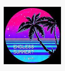Endless Summer (Vaporwave) Photographic Print