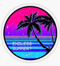Endless Summer (Vaporwave) Transparent Sticker