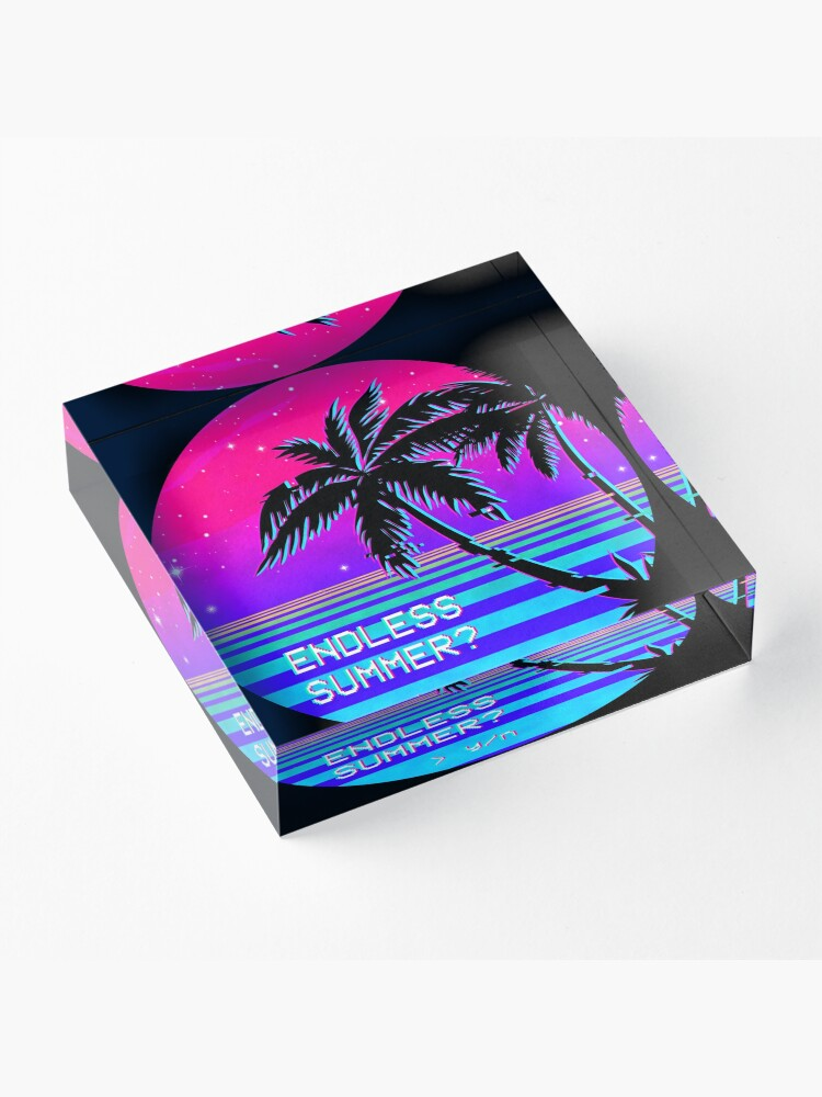 Alternate view of Endless Summer (Vaporwave) Acrylic Block